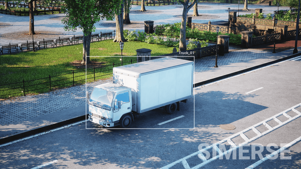 Photorealistic training image of a truck.